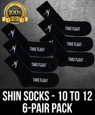 Take Flight Shin Socks - 10-12 (6 Pack)
