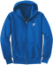 Our Take Flight Classic Hoodie in the royal blue version.