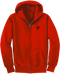 Our Take Flight Classic Hoodie in the red version.