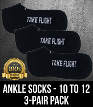 Take Flight Ankle Socks - 10-12 (3 Pack)