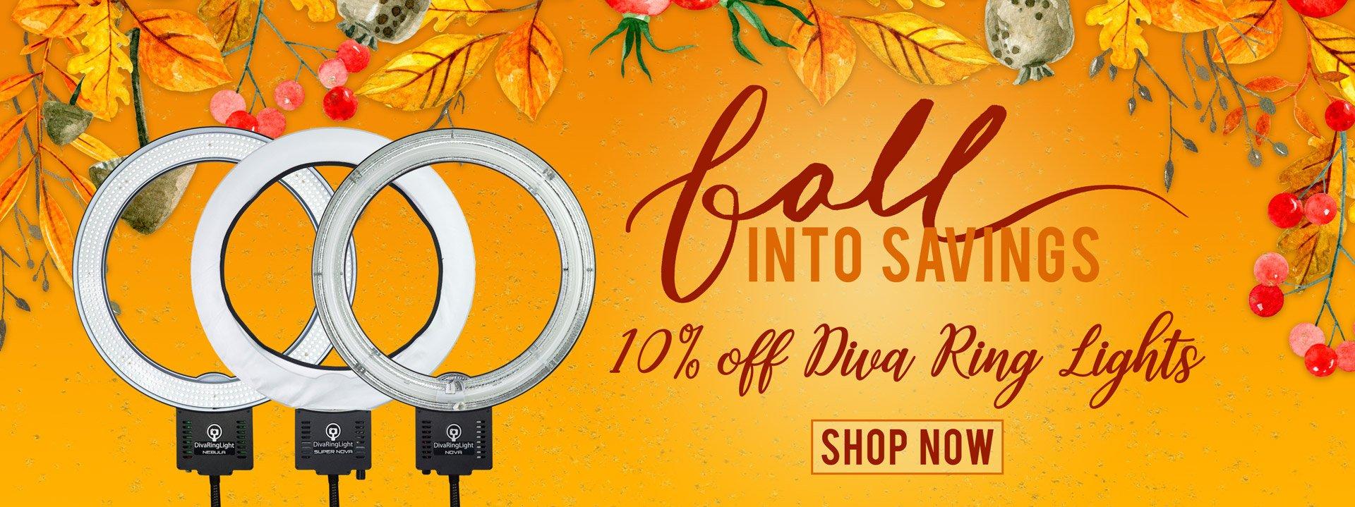 10% Off Diva Ring Lights