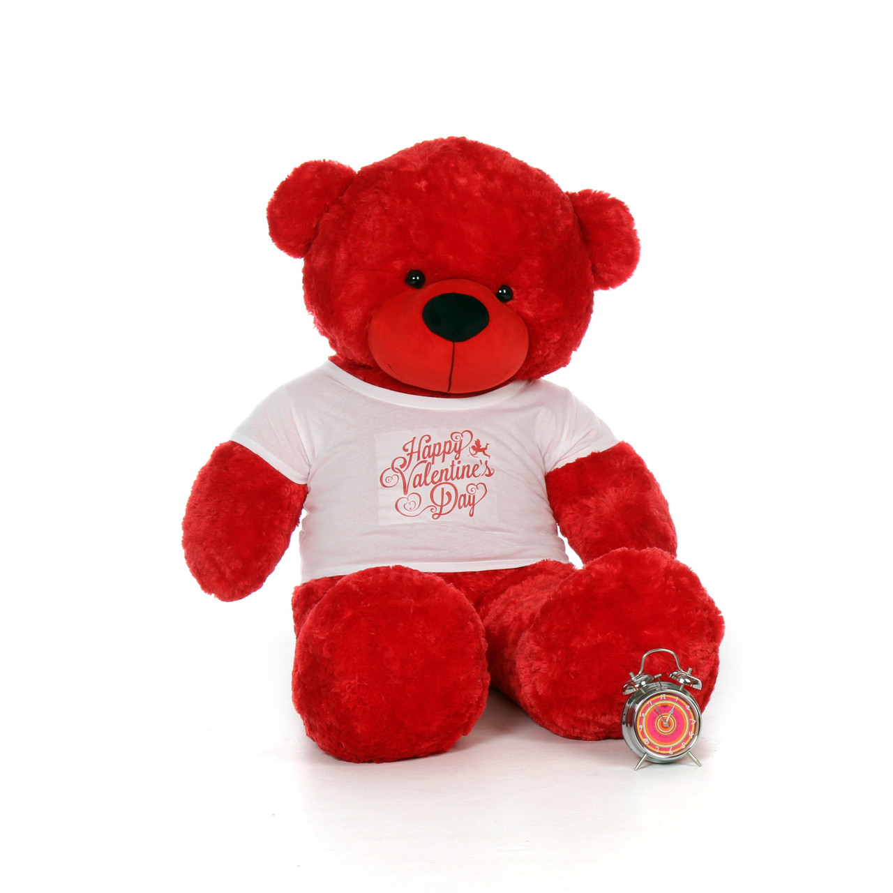60in bitsy cuddles giant red teddy bear in happy valentines day shirt - Giant Teddy Bear For Valentines Day