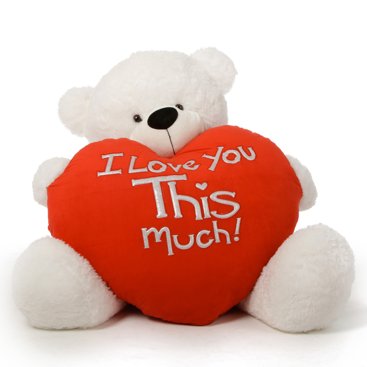 Huge White Valentine S Day Teddy Bear Coco Cuddles Loves You This Much 4ft