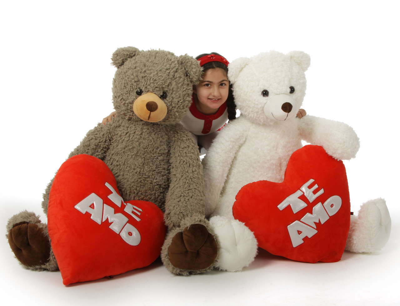 te amo valentines day teddy bears are 42in of woolly soft cuteness - Giant Teddy Bears For Valentines Day