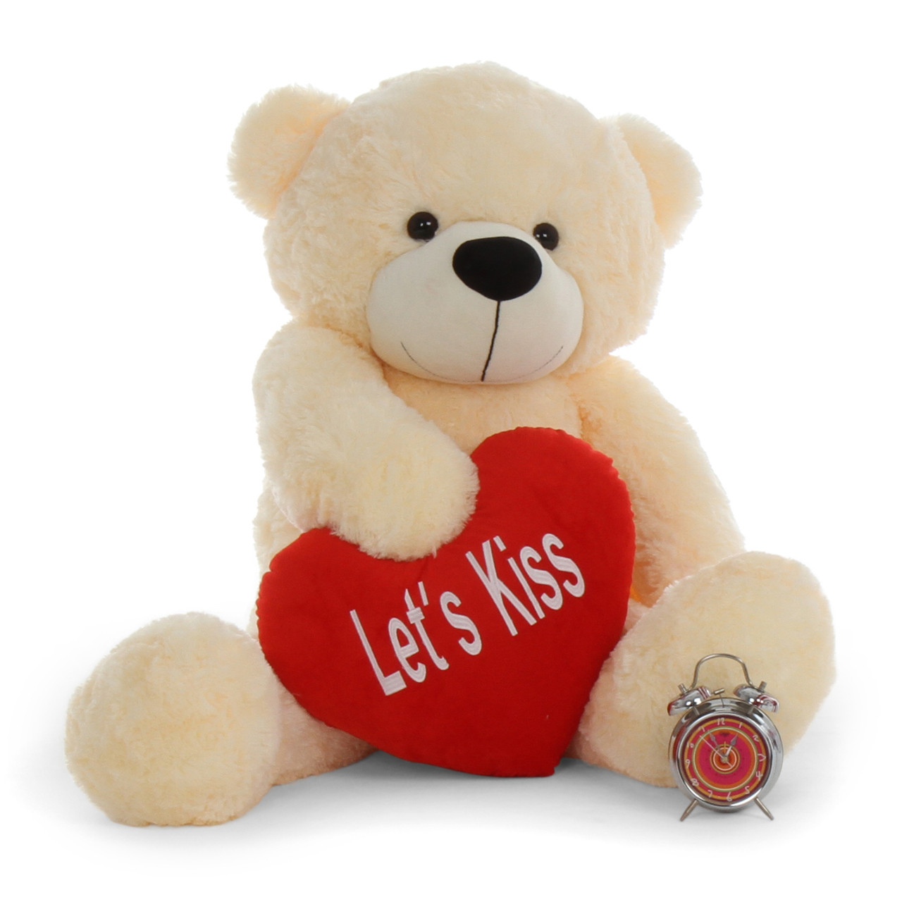 4ft best gift teddy bear for valentine s day with let kiss plush cuddles