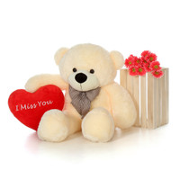 48in Cozy Cuddles Valentnie's Day Teddy Bear with I Miss You Heart Pillow