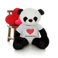 48in Life Size Personalized Valentine's Day Panda Ricky Xiong