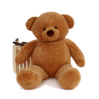 72in Cutie Chubs Extra Cute and Huggable Adorable Life Size Amber Fur Giant Teddy Bear