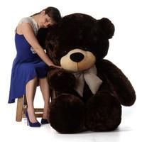 72in Brownie Cuddles Chocolate Brown Teddy Bear