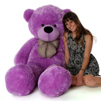 DeeDee Cuddles huge 60in purple teddy bear is a gift that will be remembered forever