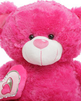 ChaCha Big Love hot pink teddy bear 30in