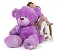 Sewsie Big Love huge lavender teddy bear 47in
