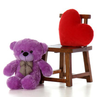 30in DeeDee Cuddles Purple Teddy Bear