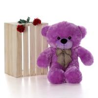 Oversized Purple Teddy Bear DeeDee Cuddles 30in