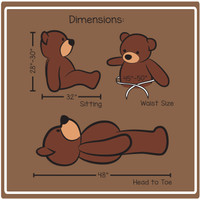 4ft Cuddles Dimensions