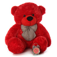 48in life size huge rare red teddy bear Bitsy Cuddles perfect to say I love you holidays or anytime