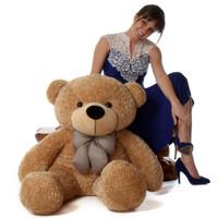 4ft Life Size Amber Huggable Brown Teddy Bear Shaggy Cuddles