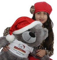 Xmas Teddy Bear with Personalized T-shirt