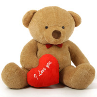 Life Size 5Ft Chubs Teddy Bears with I Love You heart and Red Bow Tie