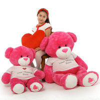 They'll get the message with Personalized Hot Pink Cha Cha Big Love (32in & 42in pictured)
