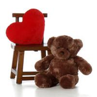 Big Mocha Teddy Bear Big Chubs 30in
