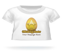 """""""Official Egg Hunter"""" Giant Teddy bear Personalized shirt for Easter"""