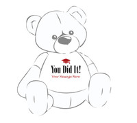 Giant teddy bear t-shirt for the Grad 2016...You did it!