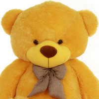 6ft Life Size Yellow Teddy Bear Daisy Cuddles Giant Teddy Adorable and Huggable