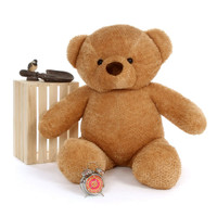 4ft Soft and Cuddly Cutie Chubs Adorable Life Size Jumbo Amber Teddy Bear (2)
