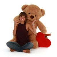 4 ft Huggable Cutie Chubs Life Size Jumbo Amber Giant Teddy Bear (2)