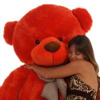 6ft Huge Life Size Teddy Bear Lovey Cuddles heavenly soft  beautiful orange red fur