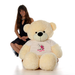5ft Life Size Make a Wish Personalized Happy Birthday Teddy Bear – choose your favorite fur color!