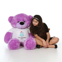 4ft Life Size Personalized Get Well Soon Teddy Bears – choose your favorite fur color