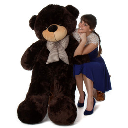 Brownie Cuddles Soft and Huggable Chocolate Brown Giant Teddy Bear 60in