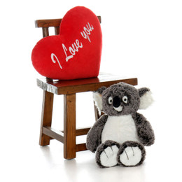 "Giant Koala with XL Red ""I Love You"" Heart Pillow (Select Your Size)"