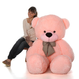 6 ft Life-Size Teddy Bear Pink Lady Cuddles