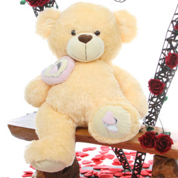 Honey Pie Big Love Lovable Butterscotch Cream Teddy Bear 30in