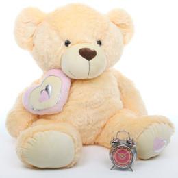 Honey Pie Big Love Lovable Butterscotch Cream Teddy Bear 42in