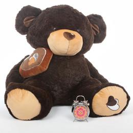 Sugar Pie Big Love Huge Cute Chocolate Brown Teddy Bear 47in