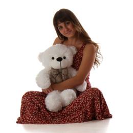 Coco Cuddles Cute Plush White Teddy Bear 24in