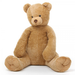Honey Tubs amber brown teddy bear 42in