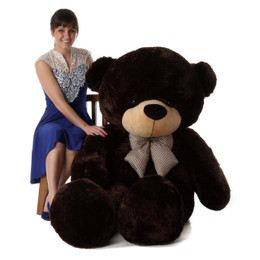 Brownie Cuddles Soft and Huggable Chocolate Brown Giant Teddy Bear 72in