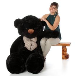 Juju Cuddles Beautiful Black Plush Teddy Bear 60in - Giant Teddy Bear