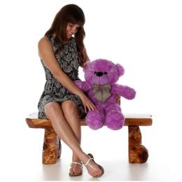 DeeDee Cuddles Adorable Lilac Plush Teddy Bear 30 inch