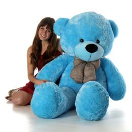Happy Cuddles Big Blue Teddy Bear 60in  - Giant Teddy Bear