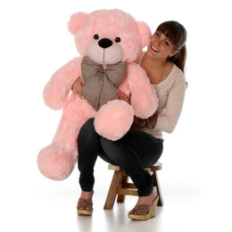 Lady Cuddles Super Soft Huggable Pink Teddy Bear 38in