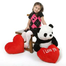 Teddy Xin Extra Large Stuffed Panda Teddy Bear with I Love You Heart 30in