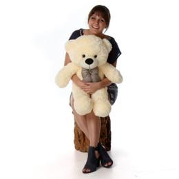 Cozy Cuddles Soft and Huggable Plush Cream Teddy Bear 38in