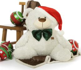 Joy Fluffy Shags 35 inch: The Jolliest Big White Christmas Teddy Bear Gift this Holiday Season!