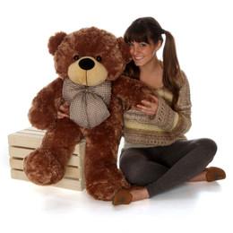 Sunny Cuddles Soft and Huggable Mocha Brown Teddy Bear 38in
